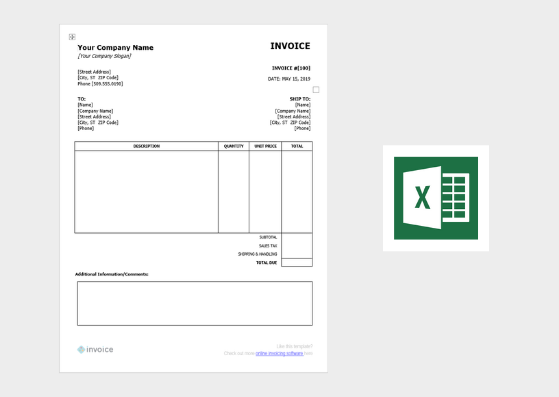 Excel Payment Template from invoice.ng