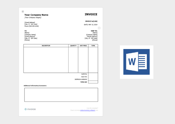 Template Invoice from invoice.ng