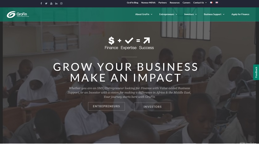 grofin website to Loans