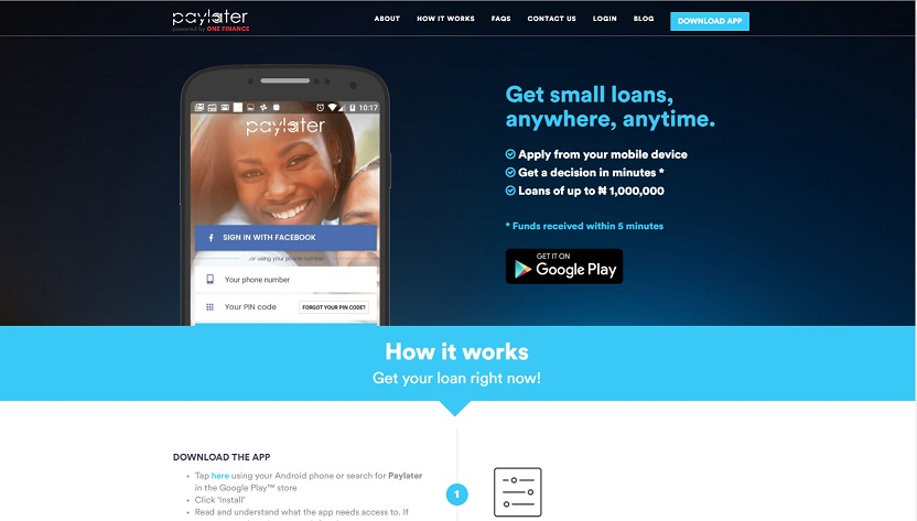 paylater nigeria website
