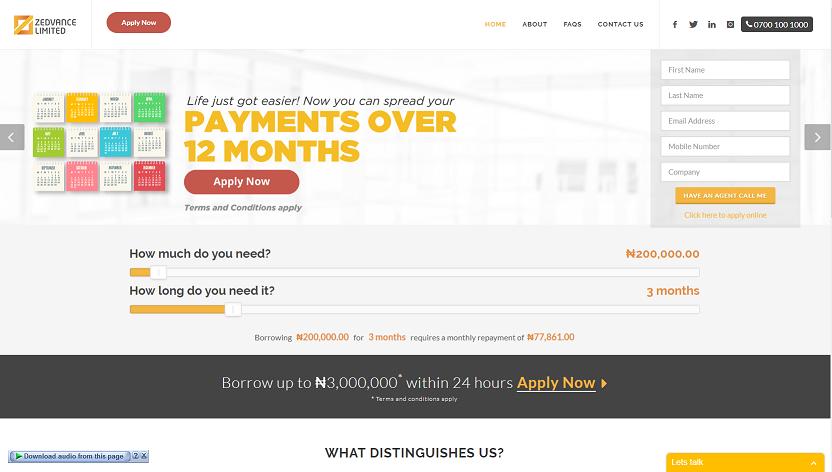 zedvance nigeria website