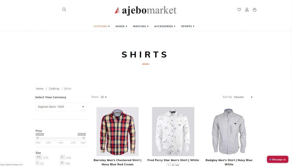ajebomarket ecommerce website nigeria