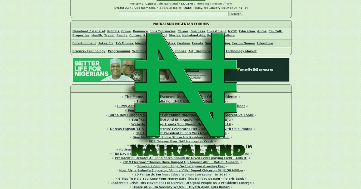 Nairaland Forum (www.nairaland.com)